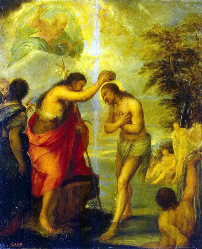 Juan Carreno de Miranda. The Baptism Of Christ