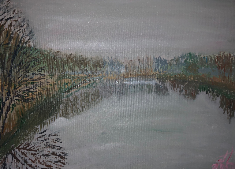 Sergey Vladimirovich Sebini. Foggy landscape