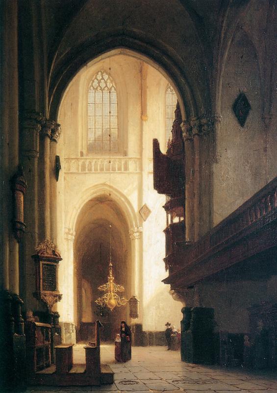 Йоханнес Босбум. Церковь в Лейдене