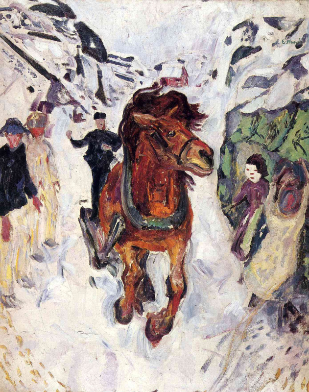 Edvard Munch. The galloping horse