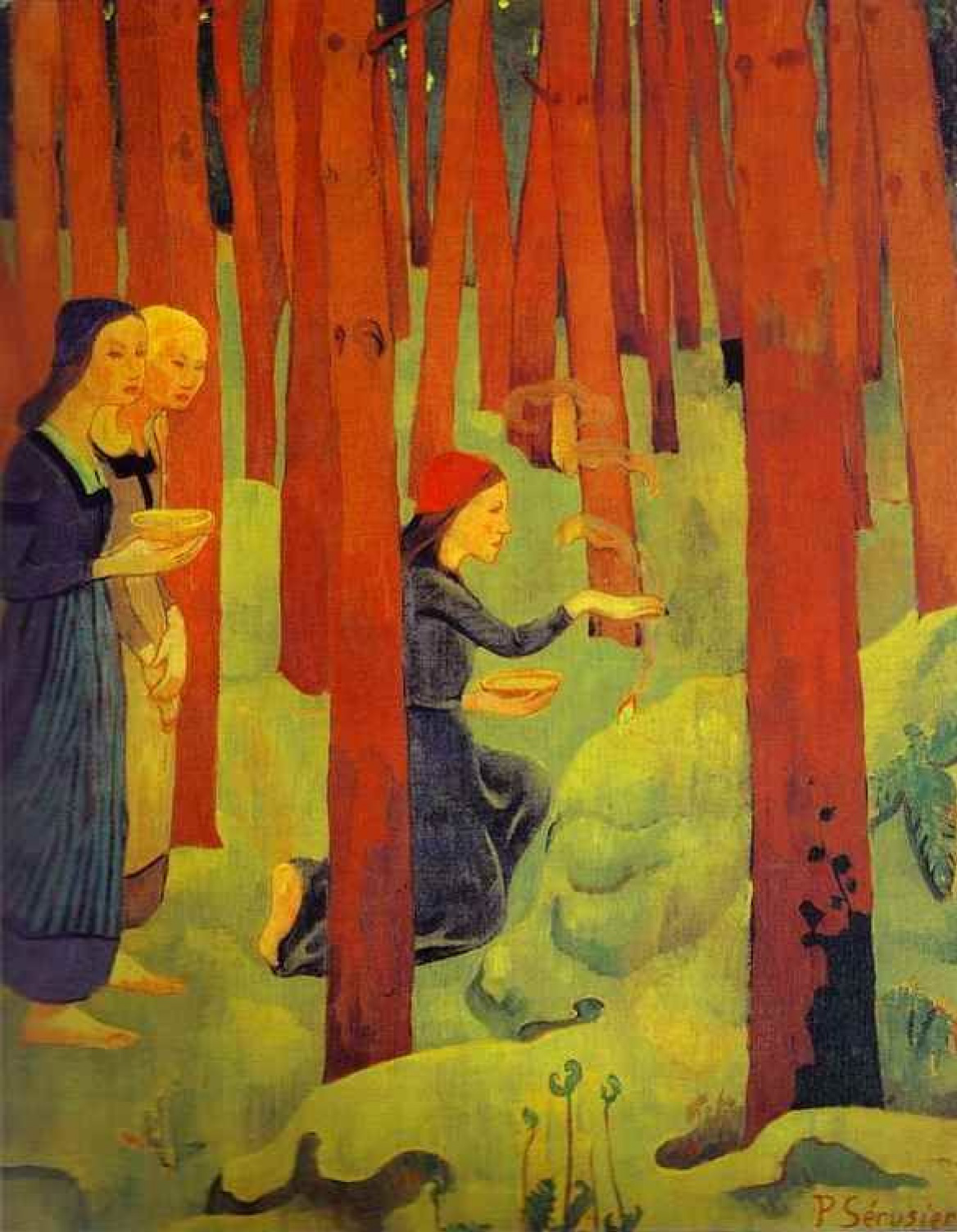 Paul Sérusier. Witchcraft (the Sacred forest)