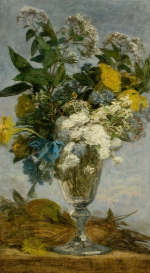 Eugene Boudin. Flowers in glass