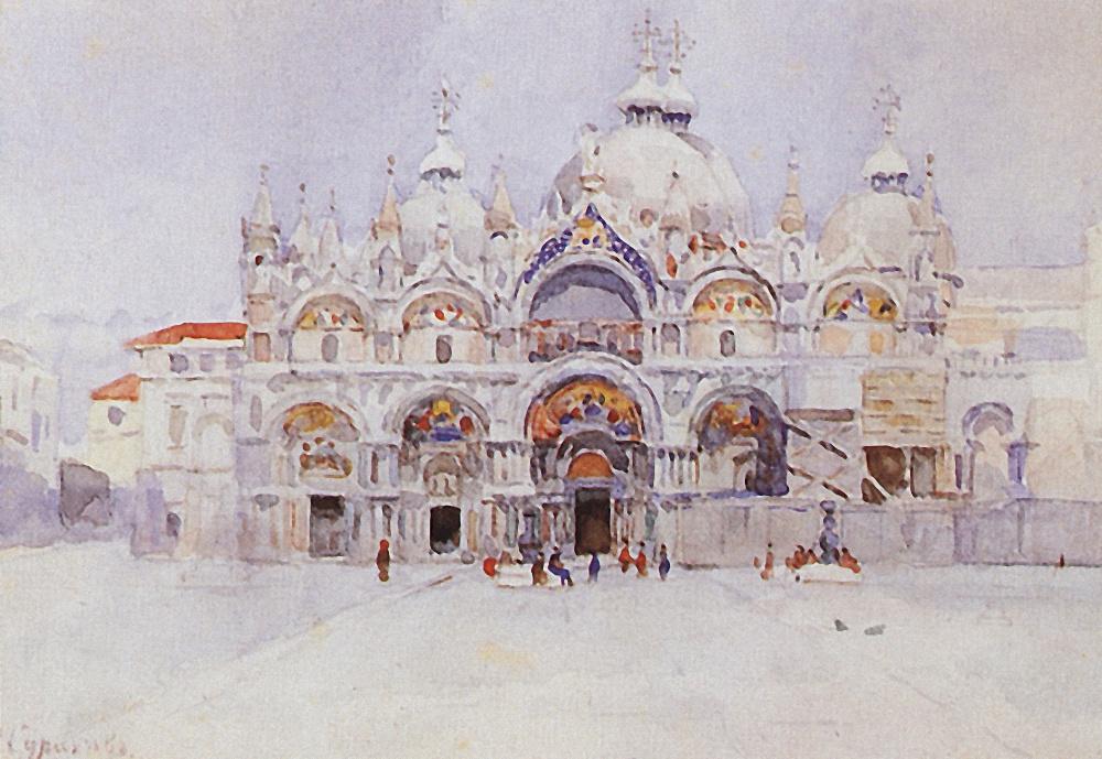Vasily Ivanovich Surikov. Venice. The Cathedral Of St. Mark