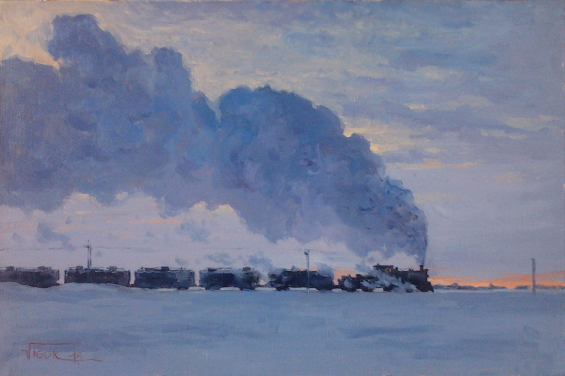Igor Mikhailovich Volodkin. Frosty morning