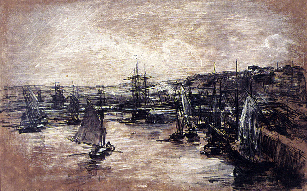 Alexis Vollon. The Harbour Of Dunkerque