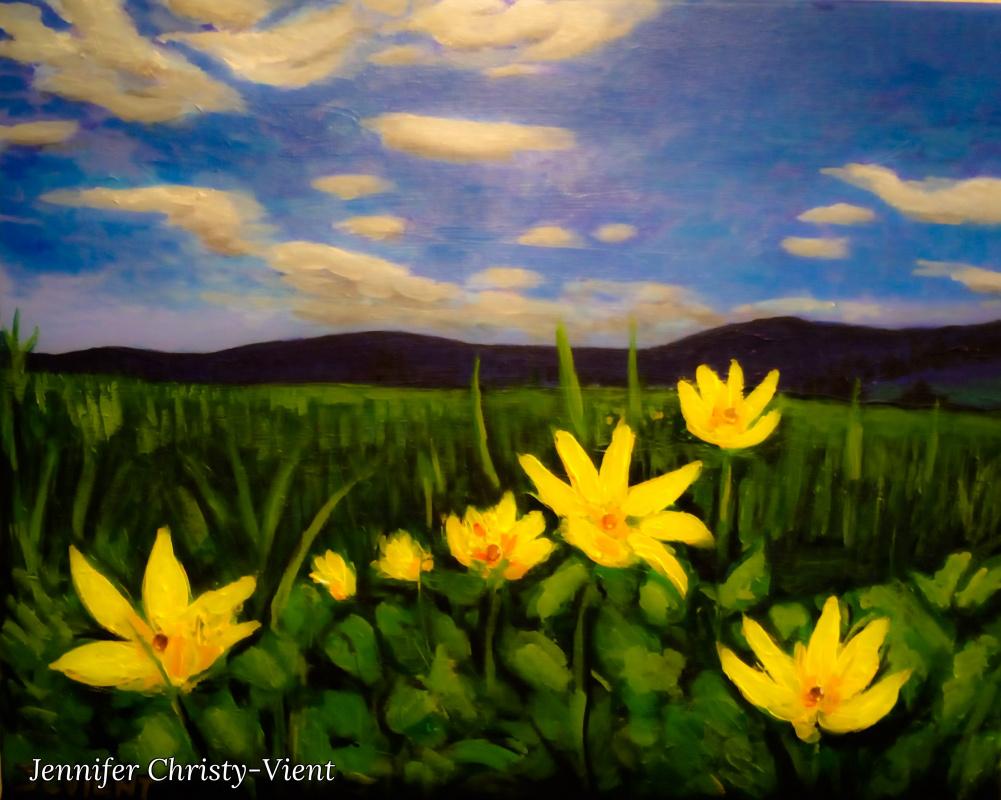 Jennifer Christy-Vient. Flowers in a Field