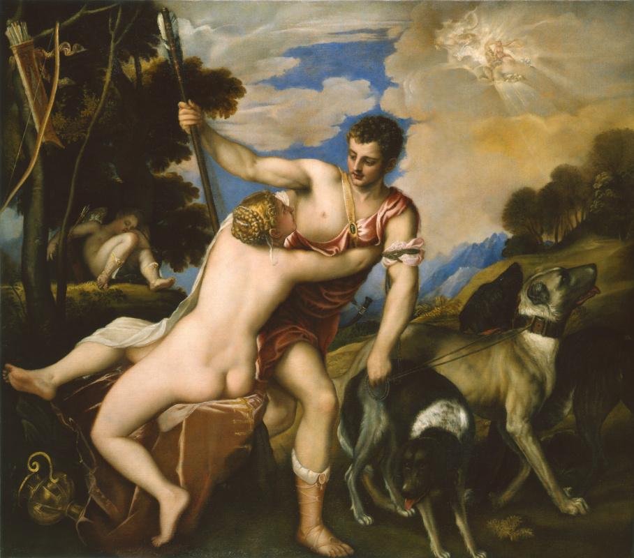 Titian Vecelli. Venus and Adonis