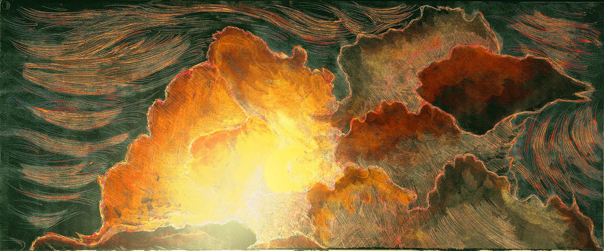 Unknown artist. Clouds
