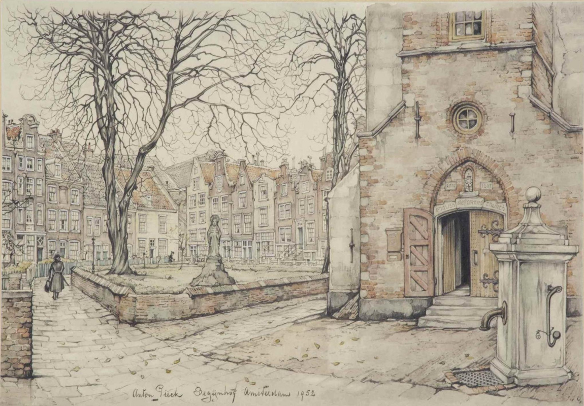 Anton Pieck. The Supreme court building, Amsterdam
