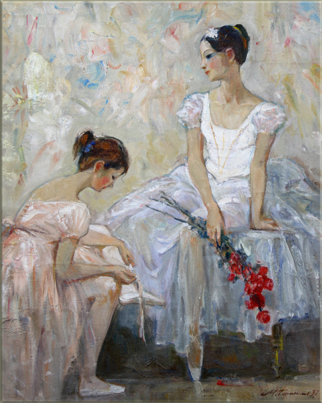 Mikhail Mikhailovich Gerasimov. Two ballet dancers. After the performance