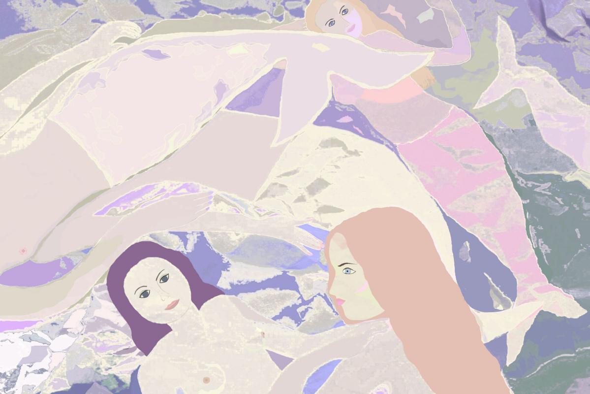"""Svetlana Sisina. """"The frolicking little mermaids"""""""