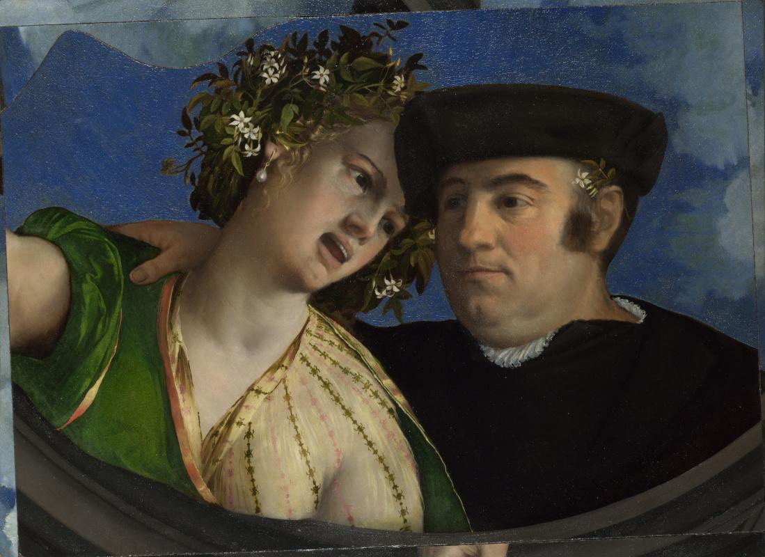 Доссо Досси. Мужчина обнимает девушку