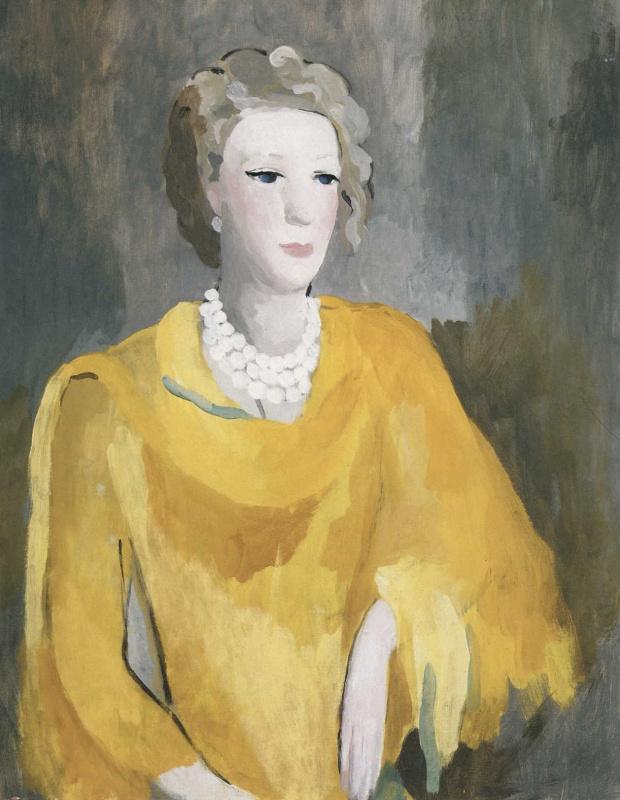 Мари Лорансен. Мадам в желтом платье