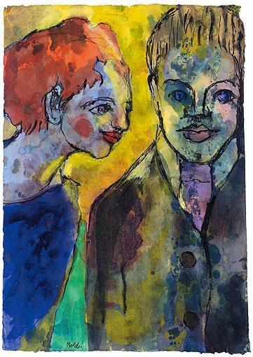 Emil Nolde. Young couple