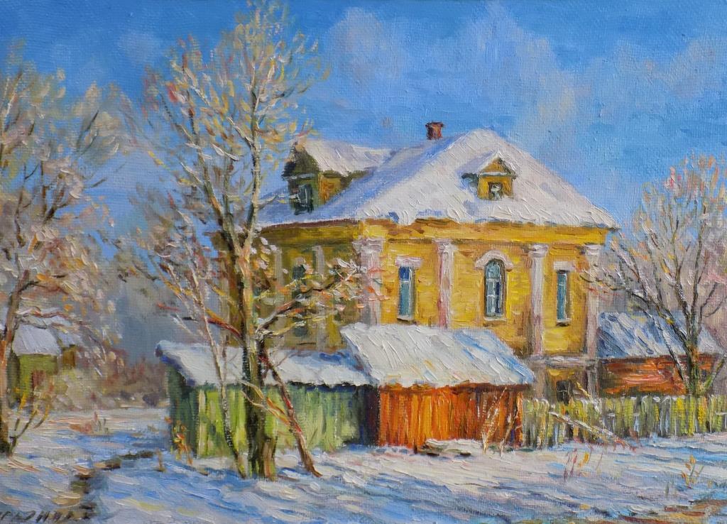 Victor Vladimirovich Kuryanov. Frosty morning