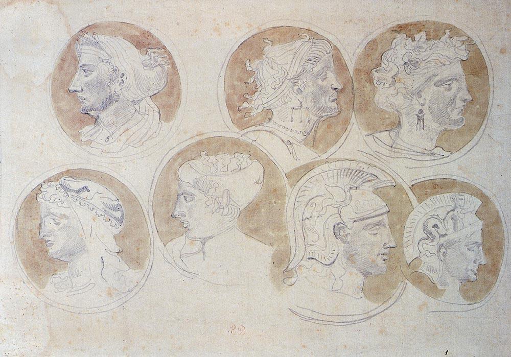 Эжен Делакруа. Изучение античных медальонов