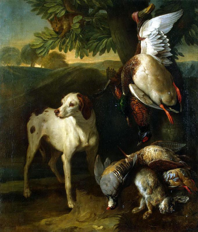 Александр Франсуа Депорт. Собака и дичь