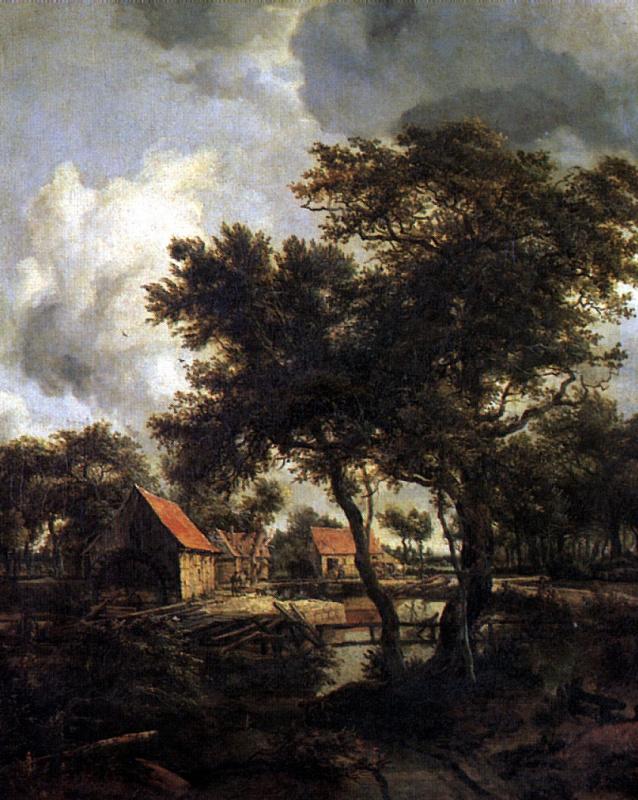 Maydert Hobbema. Water mill