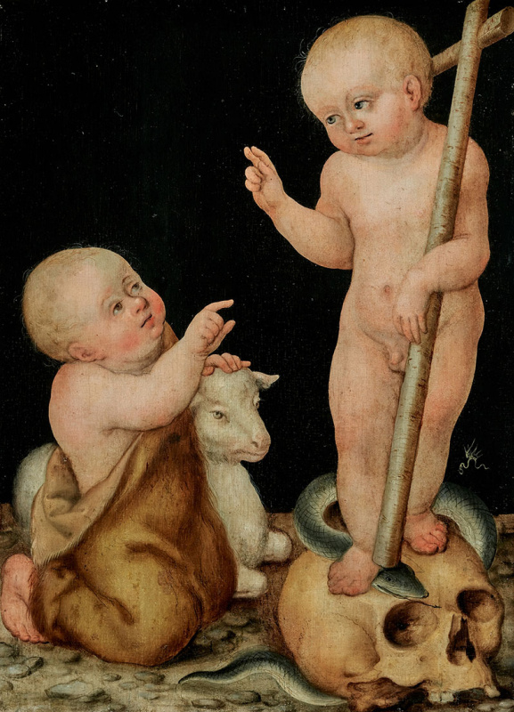 Lucas Cranach the Elder. The Christ Child with the Infant Saint John the Baptist