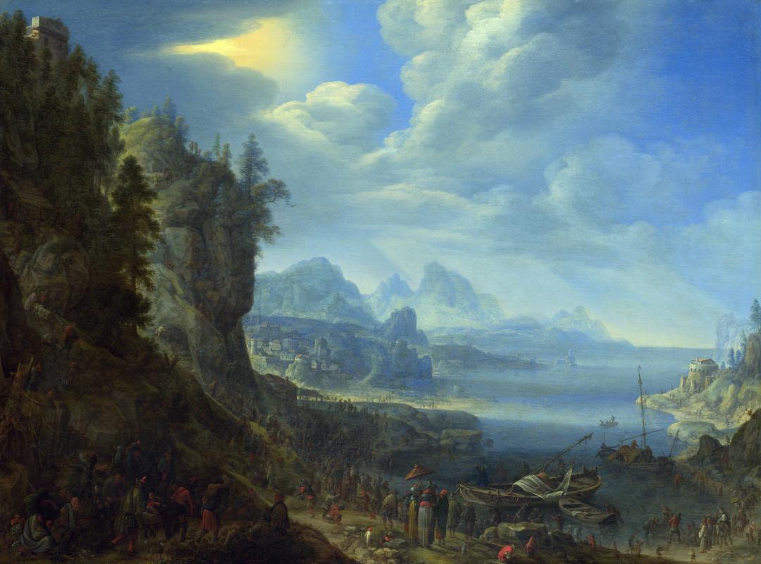 Герман Сафтлевен. Преподавание Христа с лодки Святого Петра