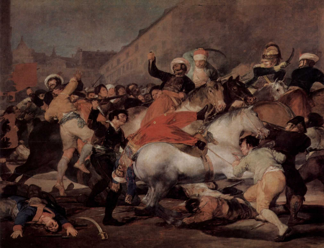 Francisco Goya. Skirmish with the Mamelukes on 2 may 1808 in Madrid