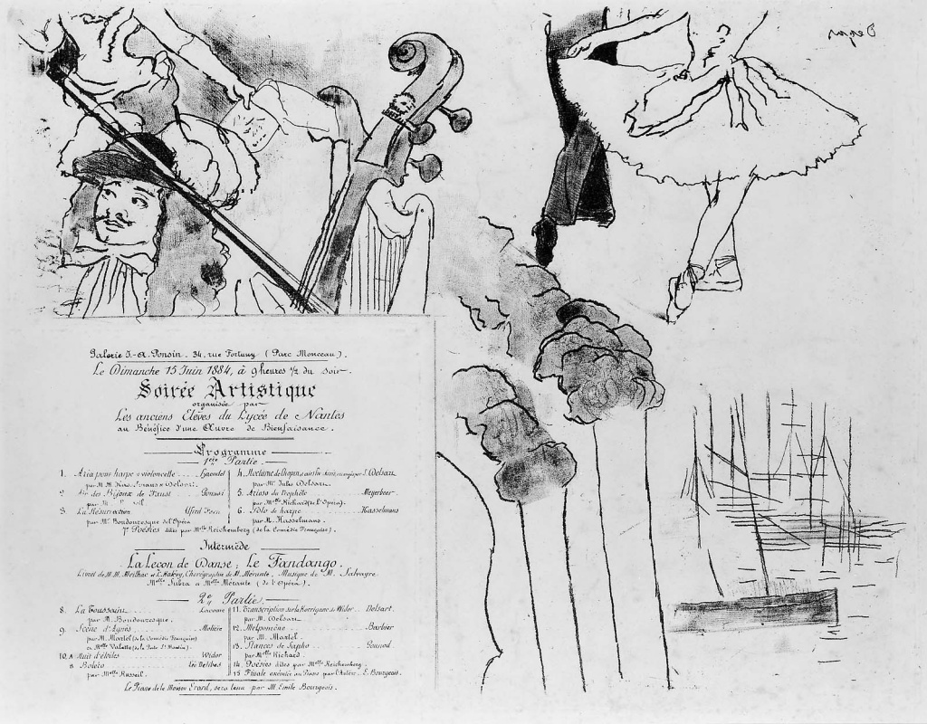 Edgar Degas. Program for an evening at the theater
