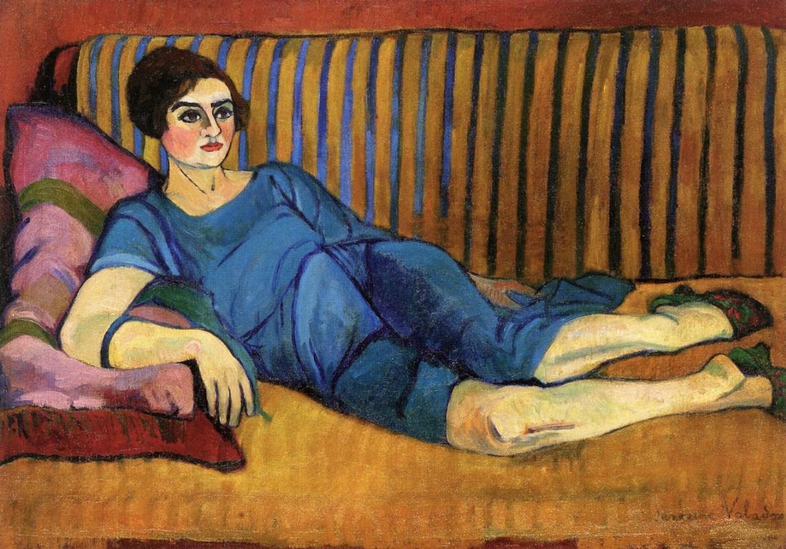 Сюзанна Валадон. Женщина, лежащая на софе