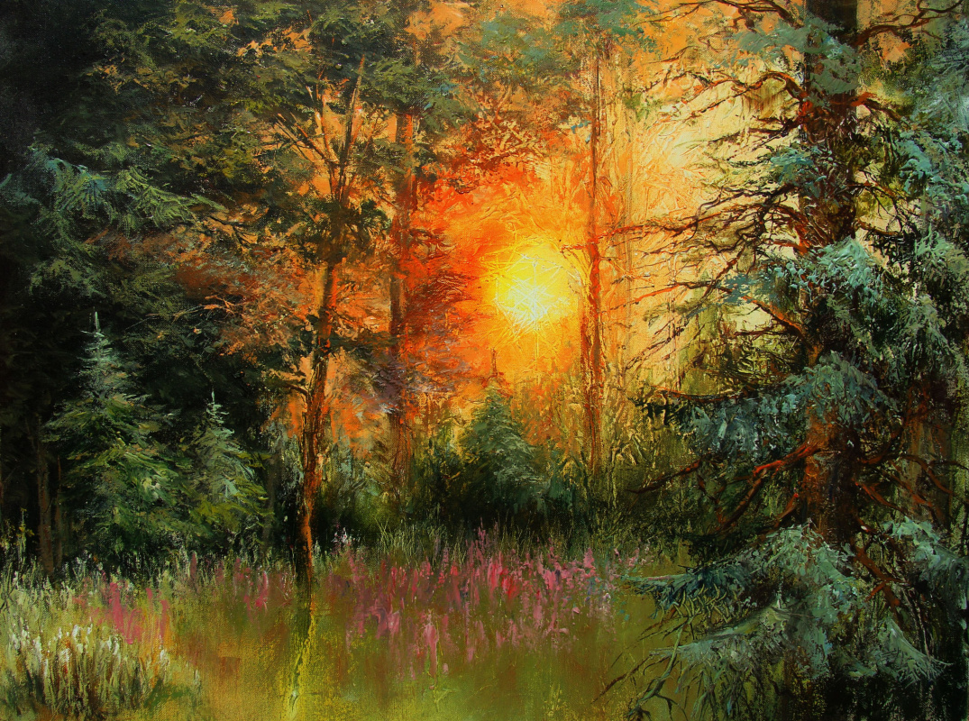 Alexander Alekseevich Lednev. Morning in the forest