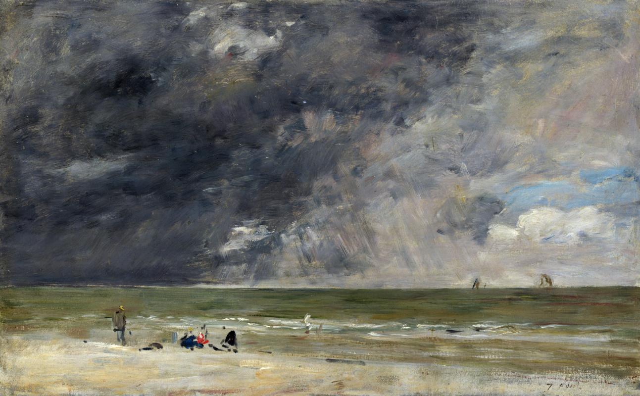 Эжен Буден. Пляж в Трувиль