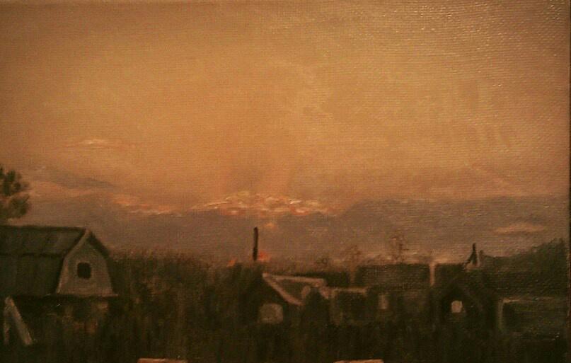 Katerina Zvezdina. Rural sunset