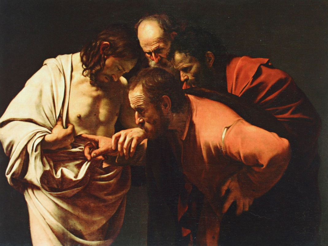 Michelangelo Merisi de Caravaggio. The doubting of St. Thomas