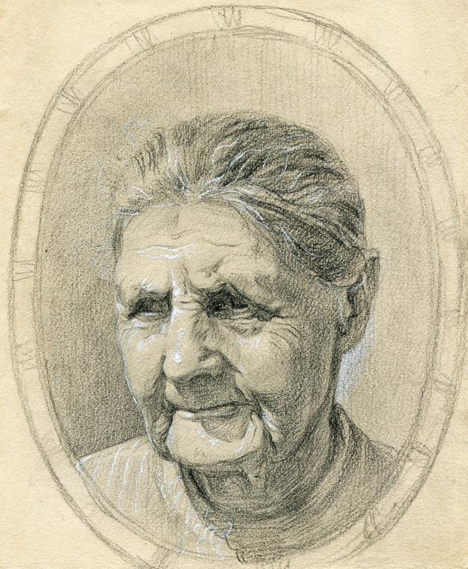 Николай Георгиевич Тихонов. Портрет матери Е.И.Тихоновой
