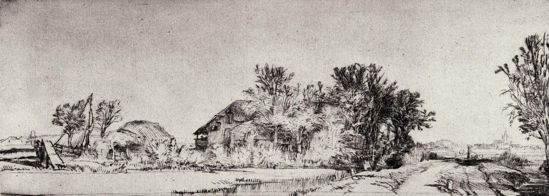 Рембрандт Харменс ван Рейн. Улица вдоль канала