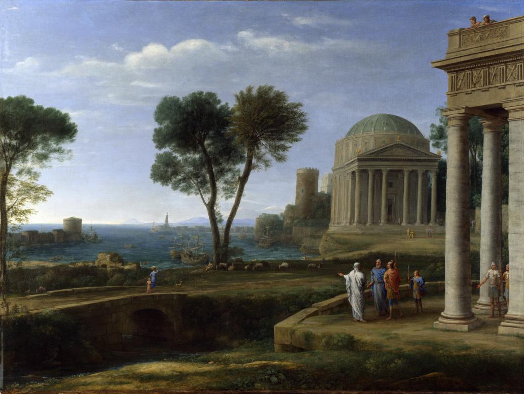Клод. Пейзаж с Энеем на Делосе