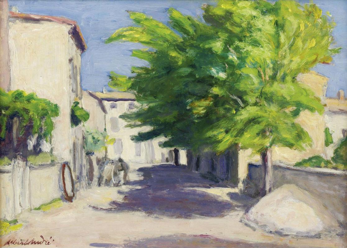 Альбер  Андре. Деревенская улица в Провансе