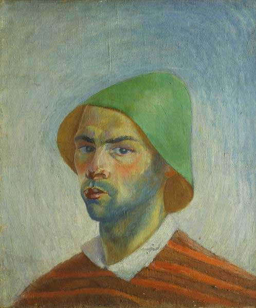 Виктор Николаевич Прошкин. Автопортрет в зеленой шляпе