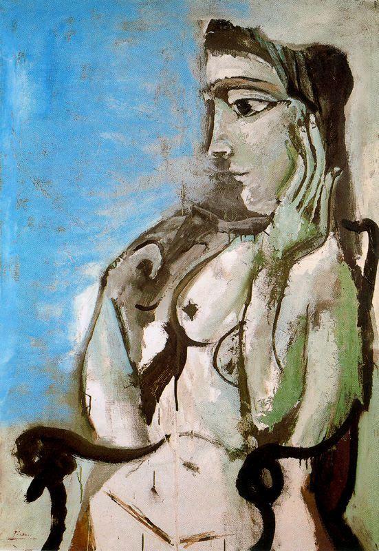 Пабло Пикассо. Девушка в кресле