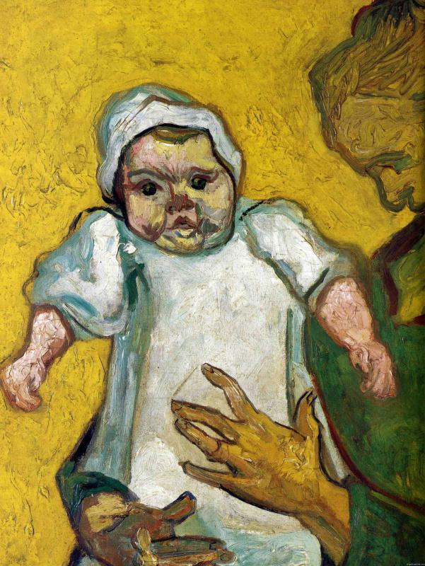 Августина Рулен со своим молочным сыном