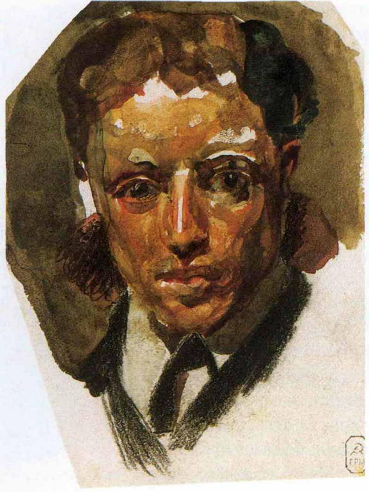 Михаил Александрович Врубель. Мужской портрет