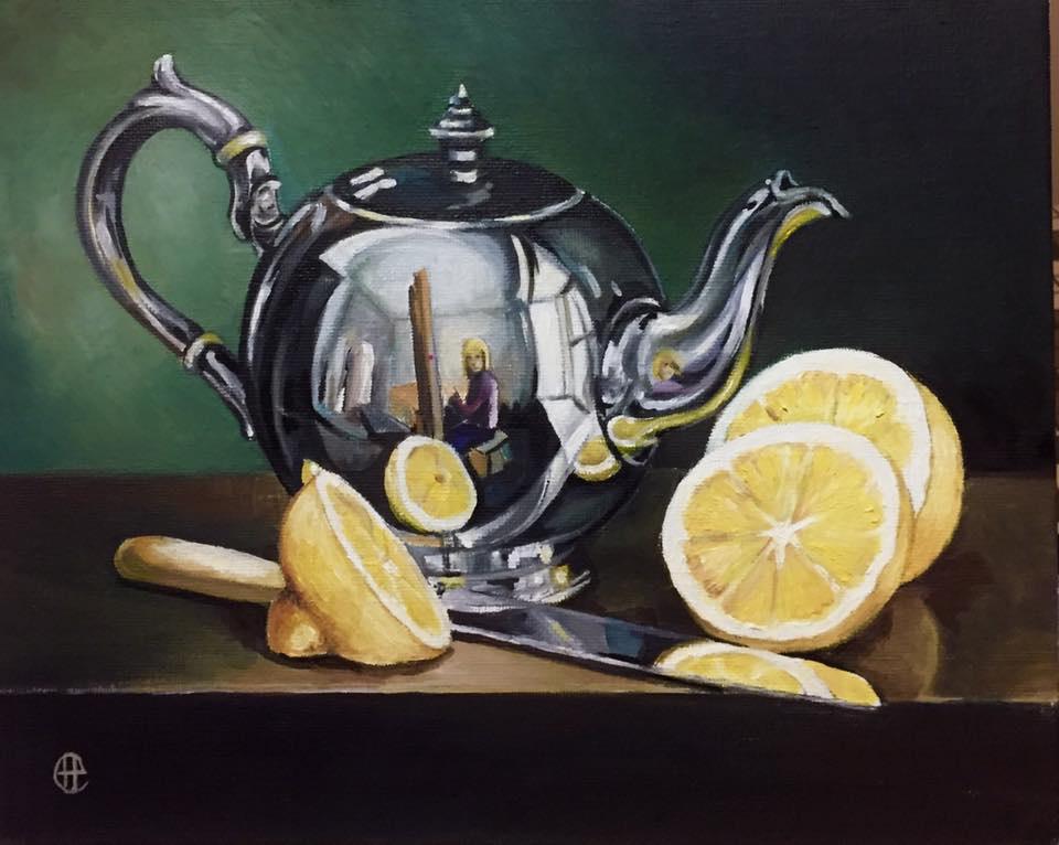 Hope Sosnovikova. Still life with a kettle