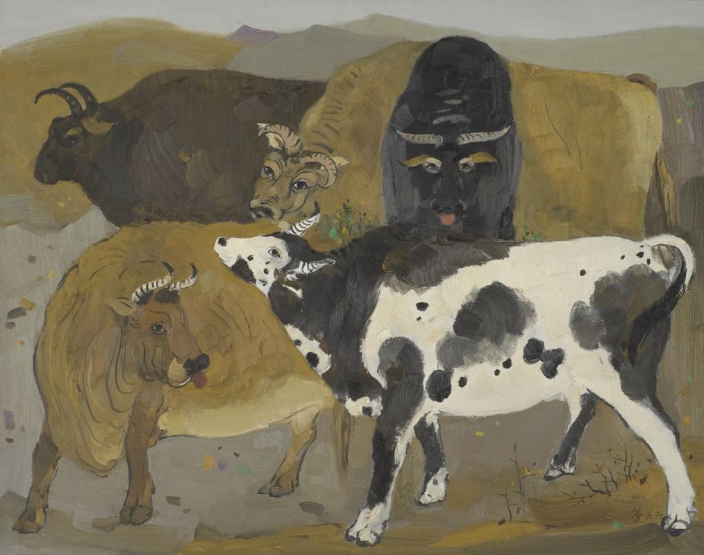 Wu Guangzhong. Five Oxen (Renewals of Ancient Flavours)