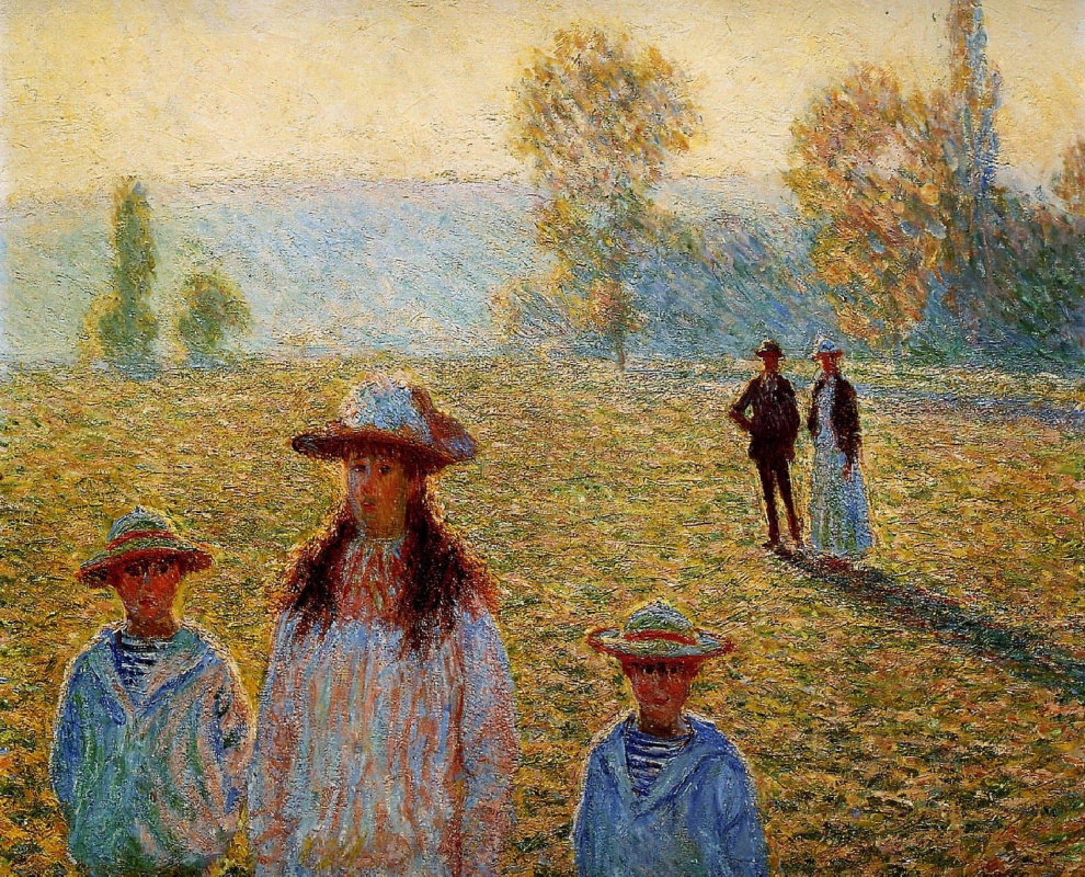 Claude Monet. Landscape at Giverny