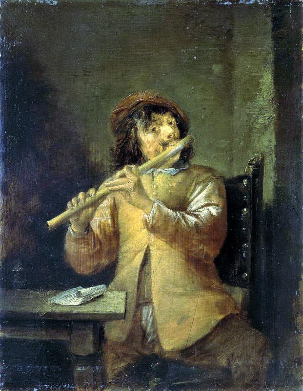Давид Тенирс Младший. Флейтист