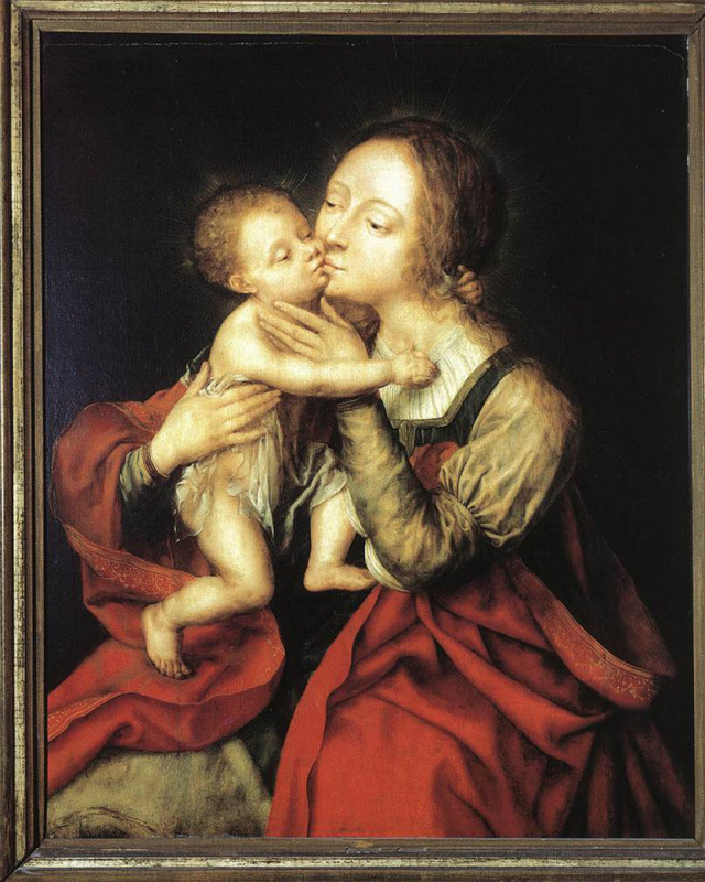 Ян Массус. Пресвятая Дева с младенцем