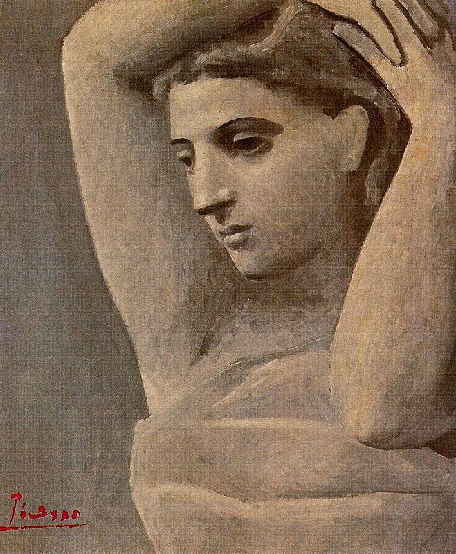 Пабло Пикассо. Портрет женщины с поднятыми руками