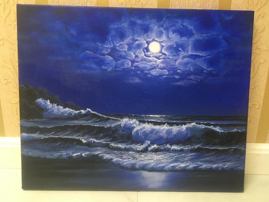 Julia Merkushina. Moonlight night
