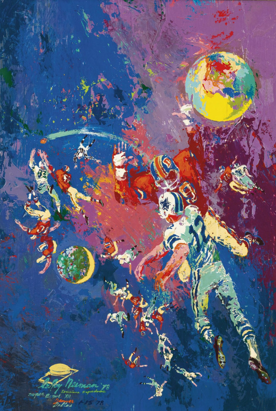 Leroy Neiman. Football constellation