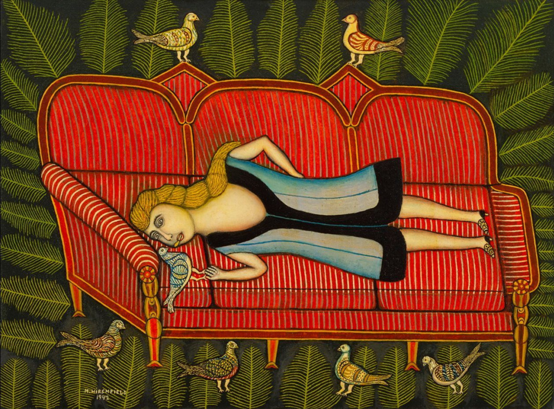 Моррис Хиршфильд. Девушка с голубями