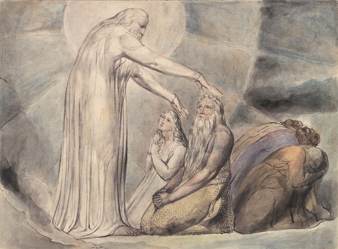 William Blake. The Book Of Job. The Vision Of Christ