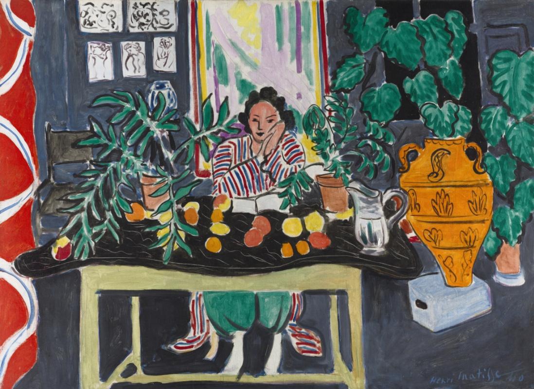 Henri Matisse. Interior with Etruscan vase